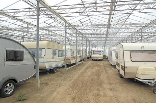 Caravans in het gelid